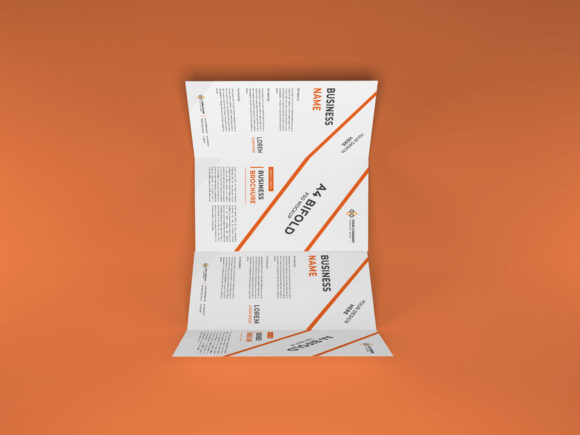 Print on Demand: A4 Bifold Brochure Mockup Template PSD Graphic Product Mockups By dendysign