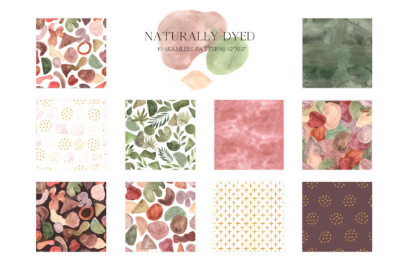 Abstract Modern Watercolor Bundle Graphic Image