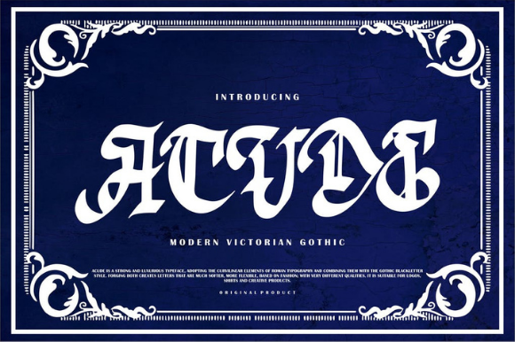 Print on Demand: Acude Blackletter Font By ameyamathur