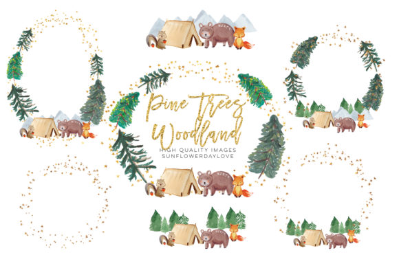 Print on Demand: Adventure Forest Clipart, Baby Shower Graphic Illustrations By SunflowerLove