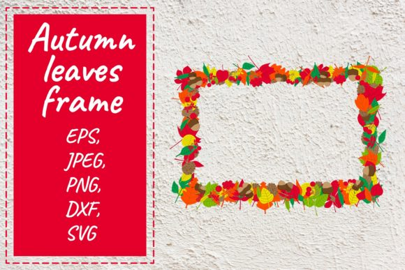 Print on Demand: Autumn Leaves Frame. Vector Clipart. Graphic Illustrations By OK-Design