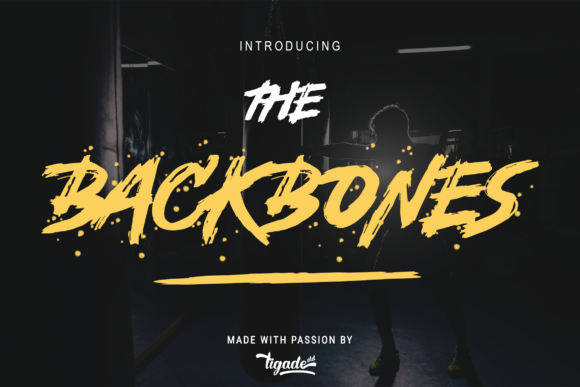 Print on Demand: Backbones Display Font By Tigade std