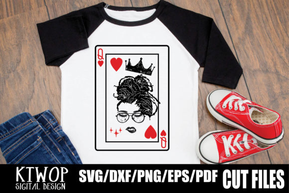 Print on Demand: Black Queen Card Dreadrock Graphic Crafts By KtwoP