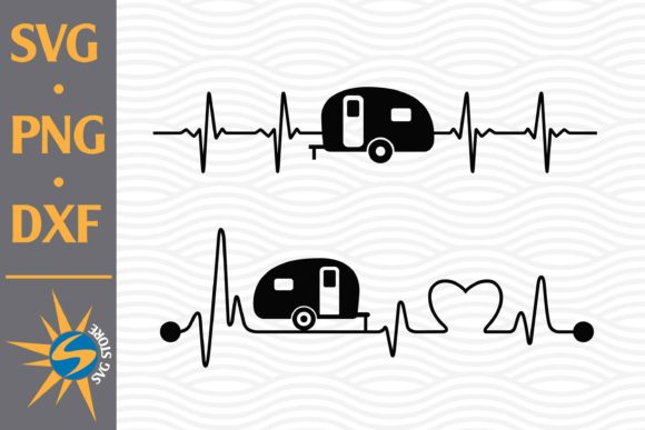 Print on Demand: Camper Heartbeat Graphic Crafts By SVGStoreShop