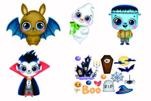 Print on Demand: Cartoon Style Halloween Clipart Graphic Illustrations By BOdesign