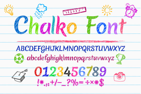 Print on Demand: Chalko Script & Handwritten Font By OWPictures