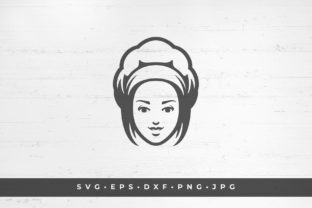 Chef Woman Face.  Vector Illustration Graphic Illustrations By vasyako1984