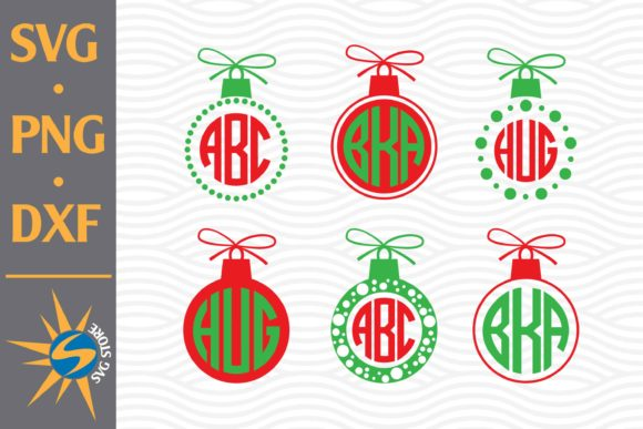 Print on Demand: Christmas Ball Monogram Graphic Crafts By SVGStoreShop