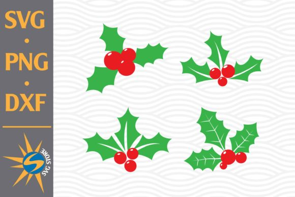 Print on Demand: Christmas Holly Graphic Crafts By SVGStoreShop