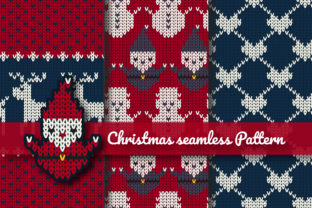 Print on Demand: Christmas Knitted Seamless Pattern Graphic Patterns By jannta