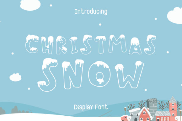 Print on Demand: Christmas Snow Decorative Font By Pila Studio