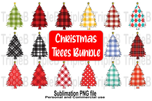 Print on Demand: Christmas Trees Sublimation Bundle Set 1 Graphic Crafts By TripleBcraft