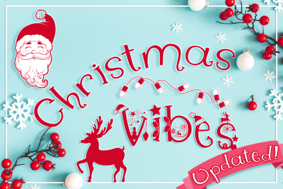Print on Demand: Christmas Vibes Decorative Font By Anastasia Feya