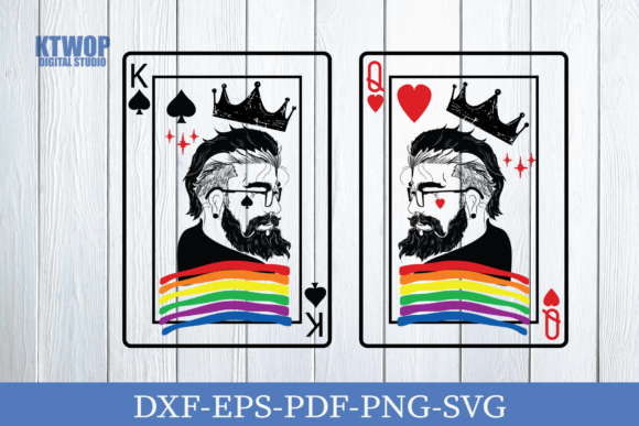 Print on Demand: Couple of LGBTQ K Q CARD SVG Graphic Crafts By KtwoP
