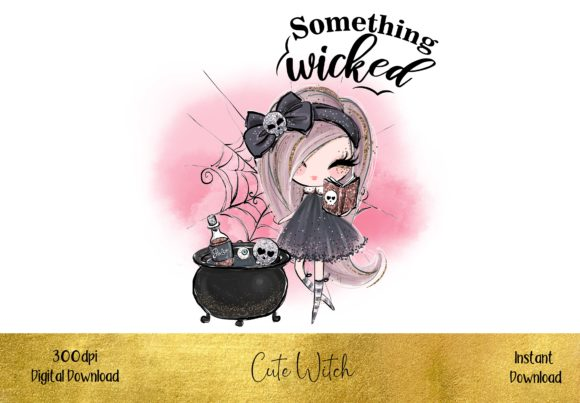 Cute Little Witch Graphic Illustrations By STBB