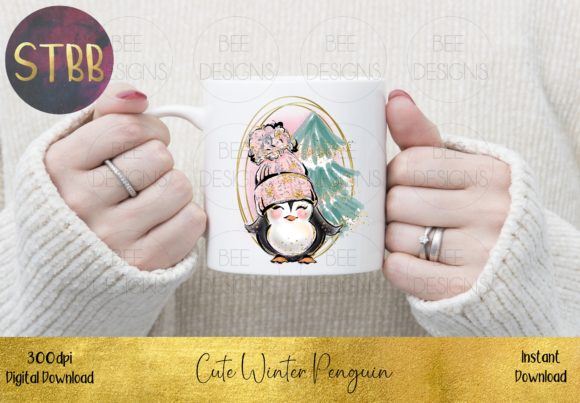 Cute Winter Penguin Graphic Item