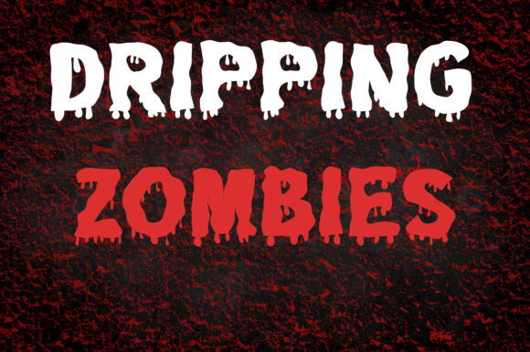 Print on Demand: Dripping Zombie Display Font By Vladimir Carrer
