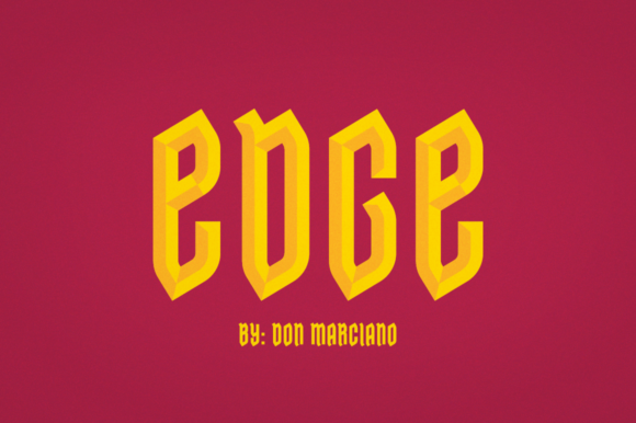 Print on Demand: Edge Blackletter Font By DonMarciano
