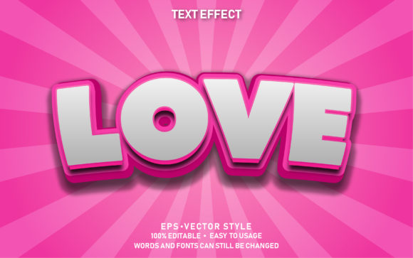 Editable Text Effect Cute Love Premium Graphic Graphic Templates By yosiduck
