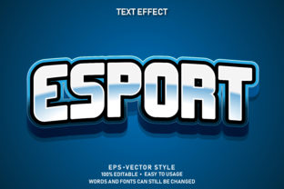 Print on Demand: Editable Text Effect E-sport Premium Graphic Graphic Templates By yosiduck
