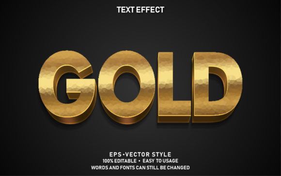 Editable Text Effect Gold Premium Graphic Graphic Templates By yosiduck