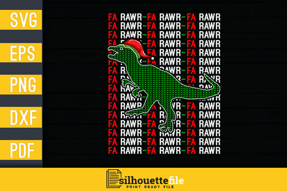 Print on Demand: Fa Rawr Tyrannosaurus Rex Graphic Crafts By Silhouettefile