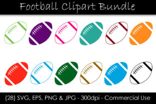 Football SVG Bundle - Football Clipart Graphic Objects By GJSArt