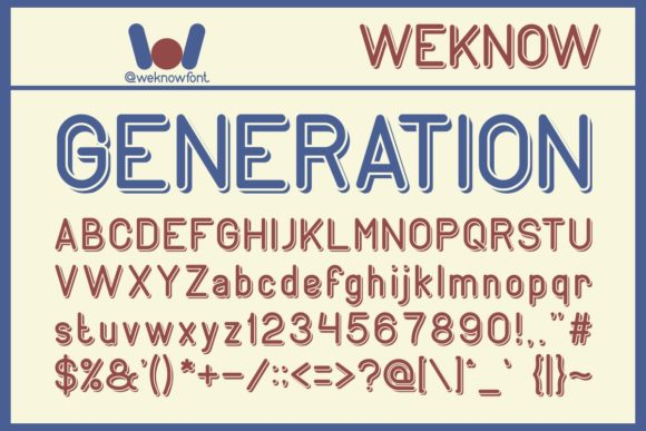 Print on Demand: Generation Display Font By weknow