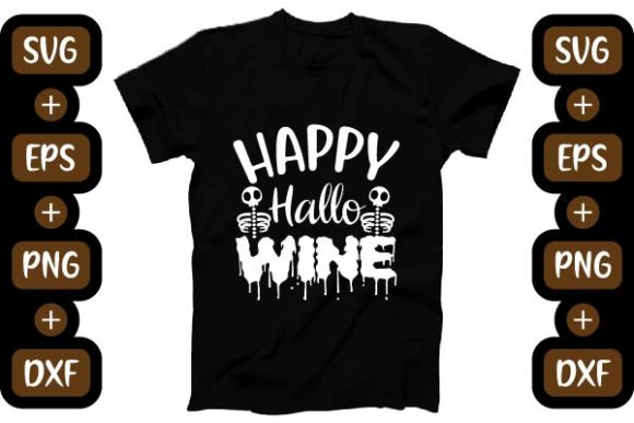 Halloween Design, HAPPY  HALLO WINE Graphic Print Templates By creative store.net