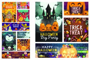 Print on Demand: Halloween Party Poster Graphic Illustrations By BOdesign