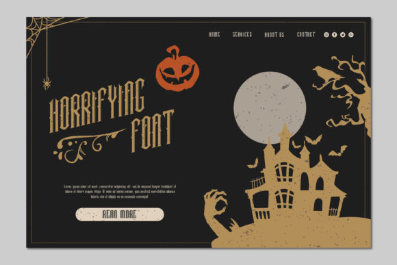 Halloween Witch Font Design