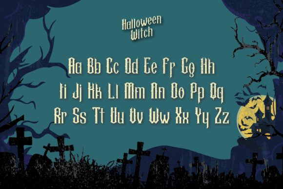 Halloween Witch Font Design Item