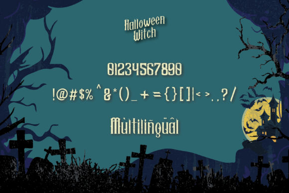 Halloween Witch Font Downloadable Digital File