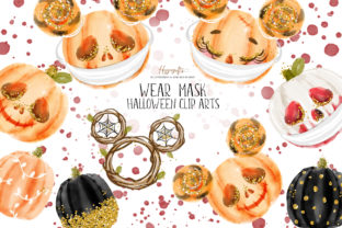 Halloween Wear Mask Clipart Graphic Illustrations By Hippogifts