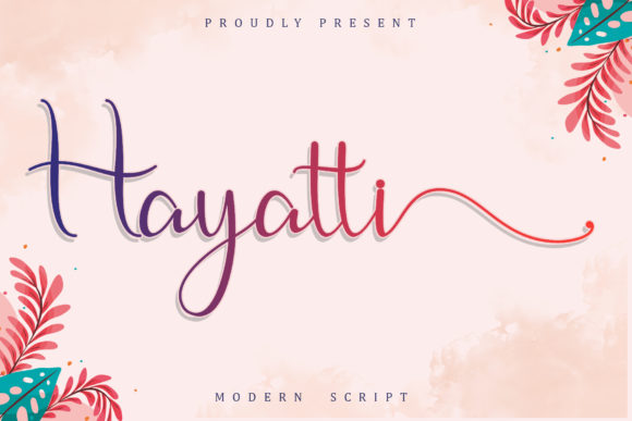 Print on Demand: Hayatti Script & Handwritten Font By Sakha Design