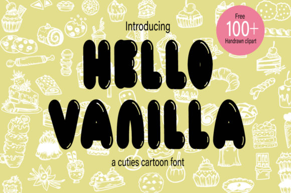 Print on Demand: Hello Vanilla Display Font By Fillo Graphic