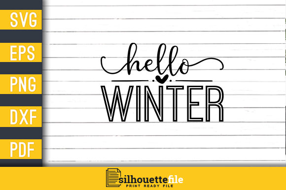 Print on Demand: Hello Winter Graphic Crafts By Silhouettefile