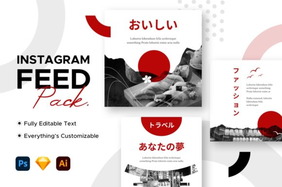 Instagram Feed / Post Travel Template Graphic Websites By mahative