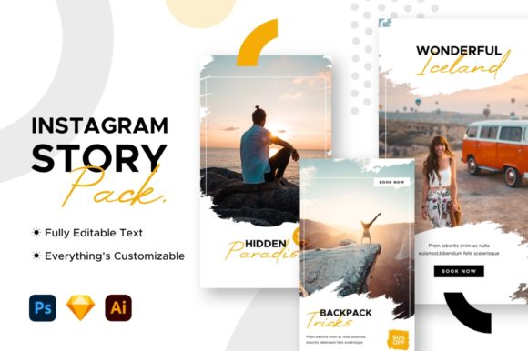 Instagram Story Travel Template Graphic Websites By mahative