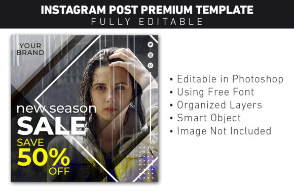Instagram Post Fashion Sale Template Graphic Web Elements By ant project template