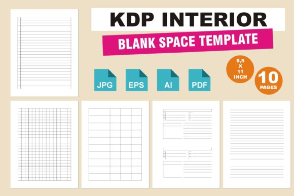 Print on Demand: KDP Interior Blank Space Template Graphic KDP Interiors By edywiyonopp