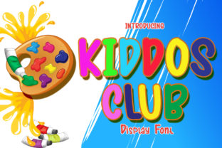 Print on Demand: Kiddos Club Display Font By boogaletter