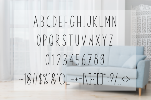 Kitchen Home Font Preview