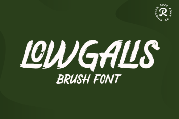 Print on Demand: Lowgalis Display Font By RHIDTYPE