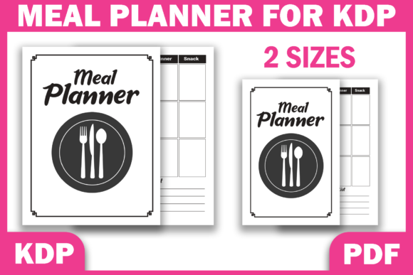 Print on Demand: Meal Planner Weekly Food Diary | KDP Graphic KDP Interiors By Fayne
