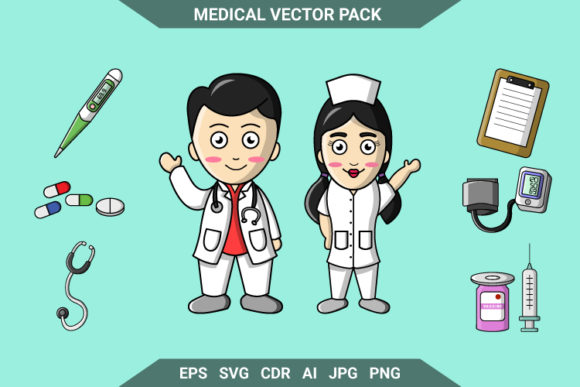 Print on Demand: Medical Vector Pack Graphic Illustrations By OCS Studio
