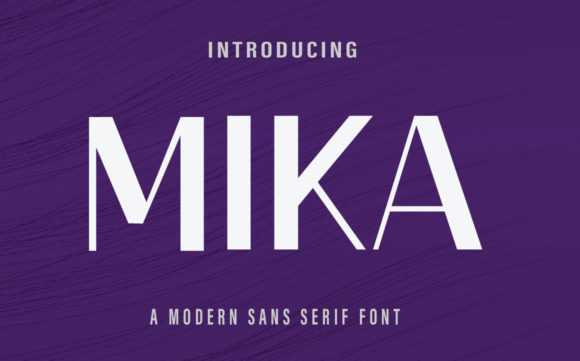 Print on Demand: Mika Sans Serif Font By Farz Studio