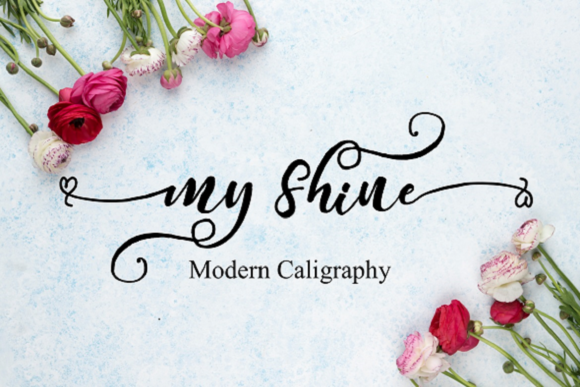 Print on Demand: My Shine Script & Handwritten Font By Rusd studio
