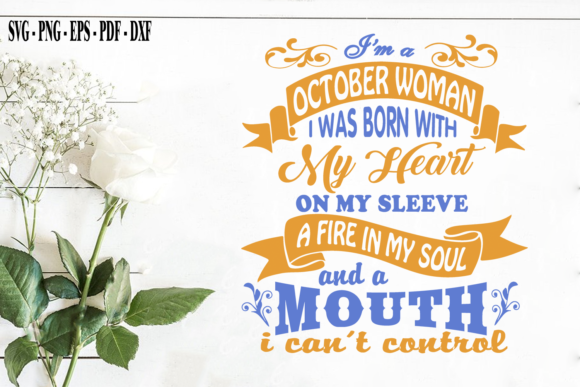 Print on Demand: October Woman October Birthday Gift Graphic Print Templates By SVG Creation