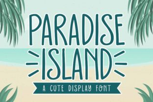 Print on Demand: Paradise Island Display Font By Subectype